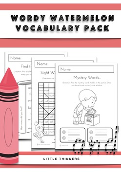 Vocabulary Pack: daily practice pages and hands-on resources