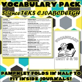 Vocabulary Pack for Chemistry Science TEKS Unit 9 & 10