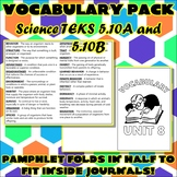Vocabulary Pack for Fifth Grade Science TEKS Unit 8