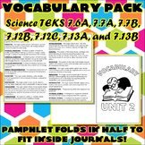 Vocabulary Pack for Seventh Grade Science TEKS Unit 2
