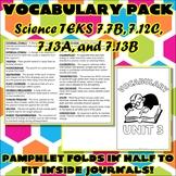 Vocabulary Pack for Seventh Grade Science TEKS Unit 3