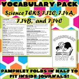 Vocabulary Pack for Seventh Grade Science TEKS Unit 4