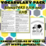 Vocabulary Pack for Sixth Grade Science TEKS Unit 8