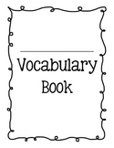 Vocabulary Packet