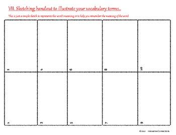 Vocabulary Pamphlet Foldable (Version 2)