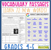 Vocabulary Passages: Grades 4-5 - Distance Learning Ready!