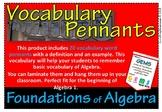 Vocabulary Pennants Foundations of Algebra