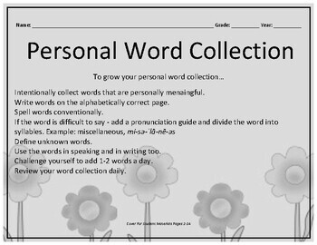 Growing Vocabulary: A Personal Word Collection