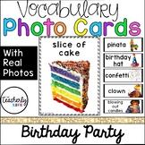 Vocabulary Photo Cards - Birthday Party