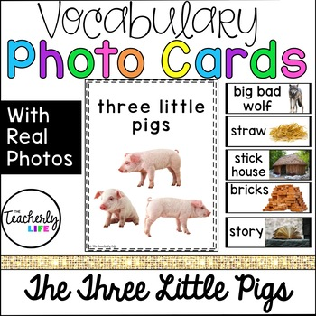 Vocabulary Photo Cards - The Three Little Pigs