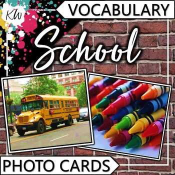 School Vocabulary Flashcards (Speech Therapy, Special Education, ESL, etc.)