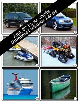 Transportation Vocabulary Flashcards