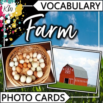 Farm Vocabulary Photo Flashcards