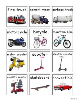 Vocabulary Photo Flashcards, Pecs