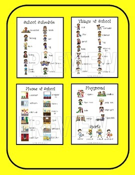 Vocabulary Picture Book