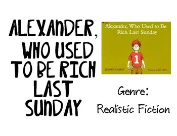 Vocabulary Picture Cards for Alexander, Who Used to be Rich Last Sunday