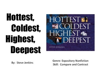 Vocabulary Picture Cards for Hottest, Coldest, Highest, Deepest