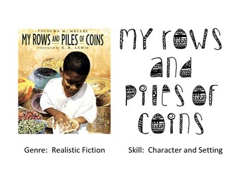 Vocabulary Picture Cards for My Rows and Piles of Coins