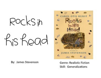 Vocabulary Picture Cards for Rocks in His Head