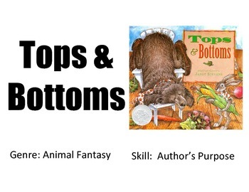 Vocabulary Picture Cards for Tops and Bottoms