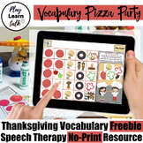 Vocabulary Pizza Party - Thanksgiving Freebie