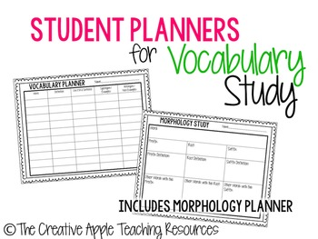 Vocabulary Planning Sheets
