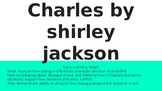 Vocabulary, Plot, Character Analysis, and Theme for Charles by Shirley Jackson