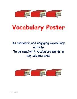 Vocabulary Poster Activity