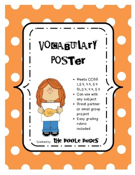 Vocabulary Poster Project