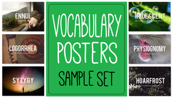 Vocabulary Posters - Sample Set