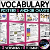Vocabulary Posters, Vocabulary Anchor Charts & Reader's Notebook Sheets