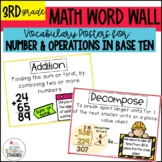 Vocabulary Posters Word Wall for Addition, Subtraction, & Rounding CC Aligned