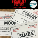 Vocabulary Posters for Language Arts