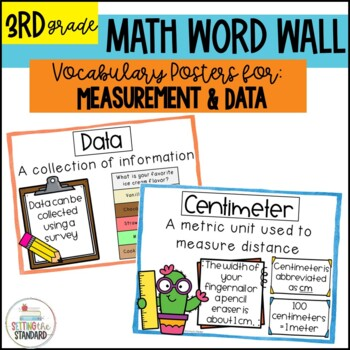 Vocabulary Posters for Measurement, Graphing, & Time- Comm