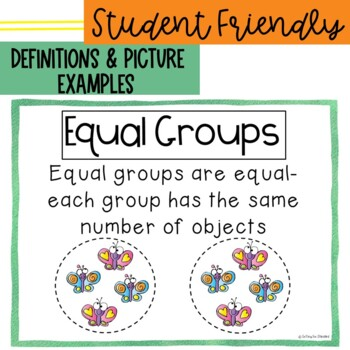 Vocabulary Posters for Multiplication & Division Common Core Aligned