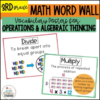 Vocabulary Posters for Multiplication & Division Common Co