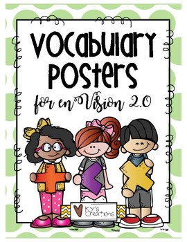 Vocabulary Posters for enVision Math 2.0