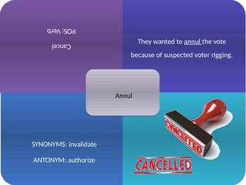Vocabulary Power Point, Sadlier-Oxford, Level C, Chapter 4
