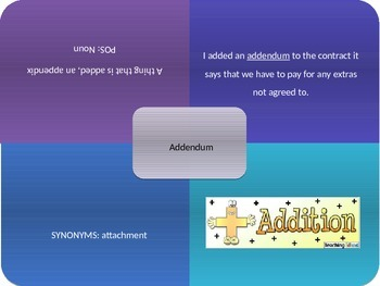Vocabulary Power Point, Sadlier-Oxford, Level C, Chapter 5