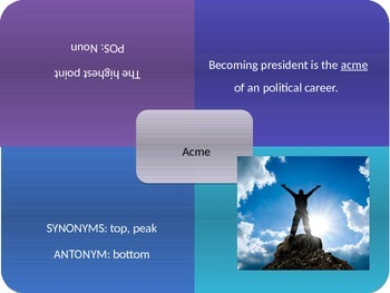 Vocabulary Power Point, Sadlier-Oxford, Level C, Chapter 7