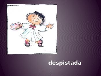 "Vocabulary Power Point for ""La pintora Pirulina"""
