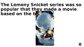 Vocabulary PowerPoint: A Series of Unfortunate Events: The Bad Beginning