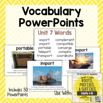 Vocabulary PowerPoints for Greek and Latin Roots Printables