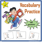 Vocabulary Practice Review for Upper Elementary Students