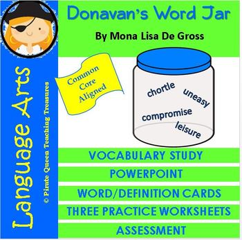 Donavan's Word Jar Vocabulary Activities