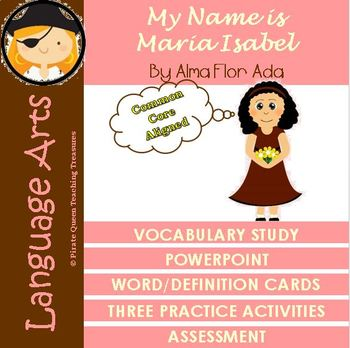My Name Is Maria Isabel Vocabulary Activities