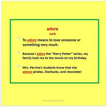 The Gardener Vocabulary Activities/Common Core Aligned