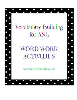 Vocabulary Practice Activities and Games