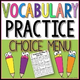 Vocabulary Practice Choice Menu