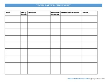 Vocabulary Practice! Customize with your word list
